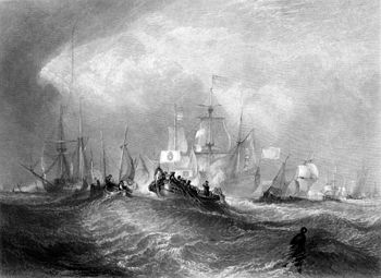 Prince of Orange Landing at Torbay, engraving ...