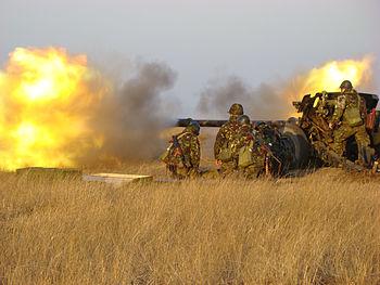 Real shooting tactical exercises in Smardan sh...