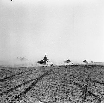 IWM caption : El Alamein 1942: British tanks m...