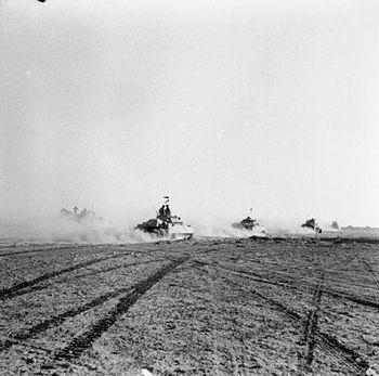 IWM caption : El Alamein 1942: British tanks m...