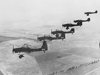 The Junkers Ju 87 Stuka. The primary close sup...